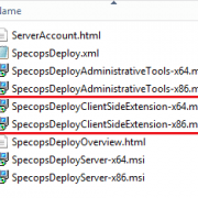 upgrade the Specops Deploy client side extensions with Group Policy Software Installation