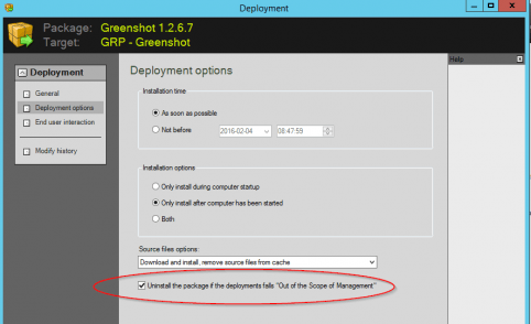 Deploy Greenshot (open source application) with Specops Deploy / App