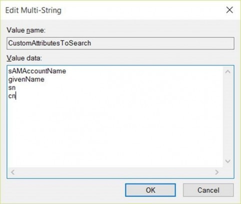specify the AD attribute to search from the helpdesk