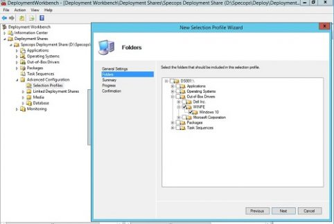 Creating a WinPE boot image with Windows 10 Drivers