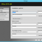 Office 2016 Package Installation options