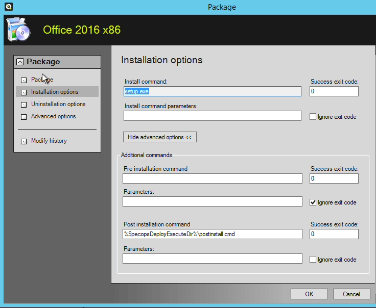Office 2016 Silent Install with Specops Deploy | Specops Software