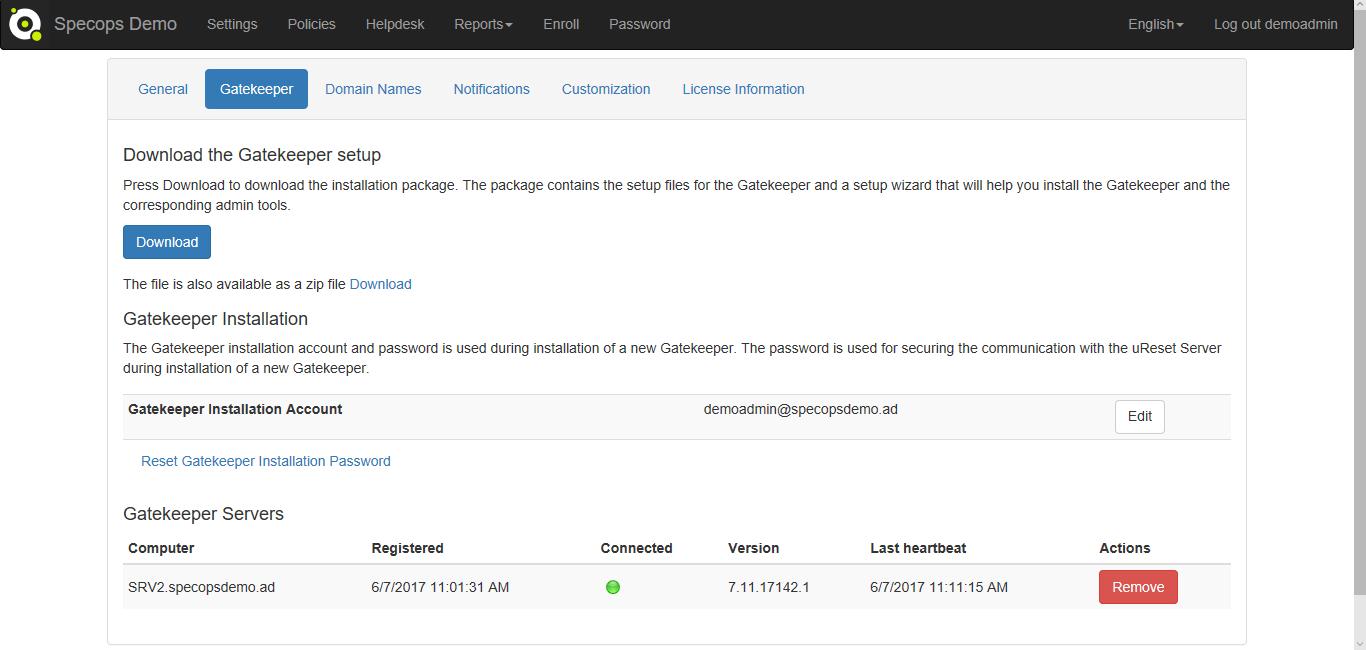 Step 17 Gatekeeper web settings