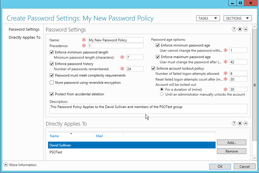 How to create a fine-grained password policy in AD | Specops Software