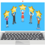 5 people holding up 5 stars