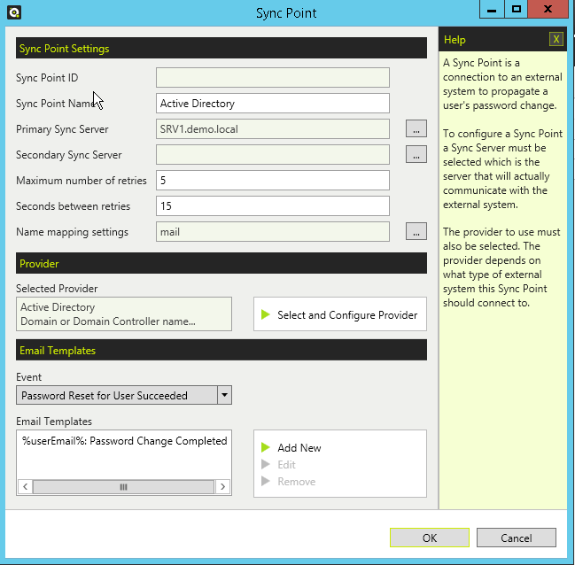 change user password active directory