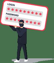masked password credential attacker